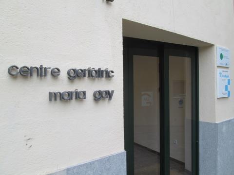 Entrada del Centre Geriàtric Maria Gay de Girona