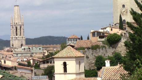 Vistes sobre el casc antic de Girona des del Centre