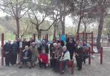 Residents del Centre Geriàtric Maria Gay al Parc Urbà de Vista Alegre (Girona)