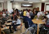 Bingo amb l'Escola Cor de Maria al Centre Geriàtric Maria Gay
