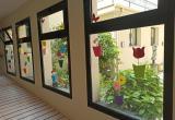 Decoració temps de  Flors en el centre