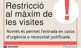 Restricció al màxim de les visites al Centre Geriàtric Maria Gay