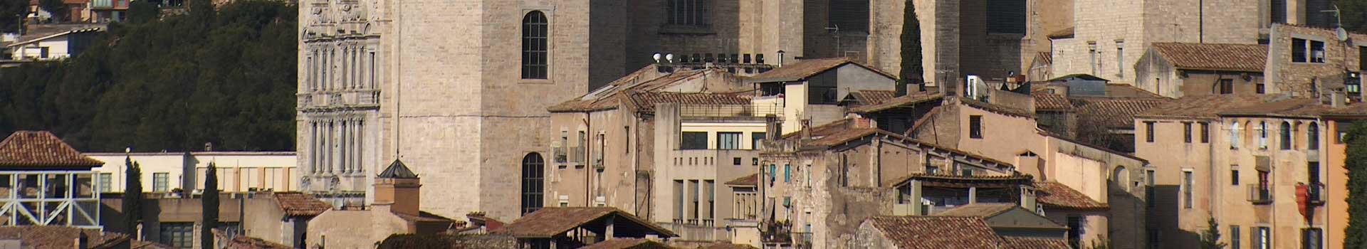 Vista del Call jueu de Girona des del Centre Geriàtric Maria Gay